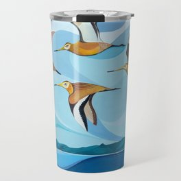 Godwits over Stingray Bay Travel Mug