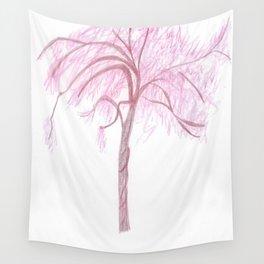 Blush Rising Tree  Wall Tapestry