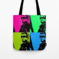 terminator Tote Bags featuring Terminator by Bolin Cradley Art