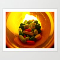 pills Art Prints featuring Pills by Jerel Cardona