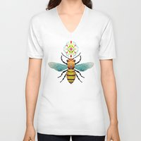 bee and puppycat V-neck T-shirts featuring bee by Manoou