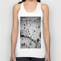 western Tank Tops featuring Western Wall by Emily Lewin
