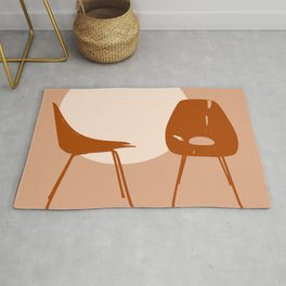 Mid-century chairs Rug