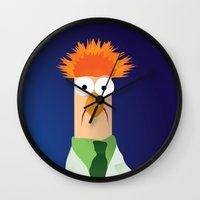 muppets Wall Clocks featuring Beaker - Muppets Collection by Bryan Vogel