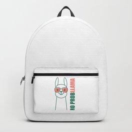 Llama, Alpaca design. No ProbLlama trendy gift. Backpack