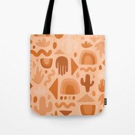 Orange Cutout Print Tote Bag