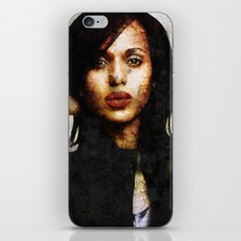 Portrait of Kerry Washington iPhone Skin