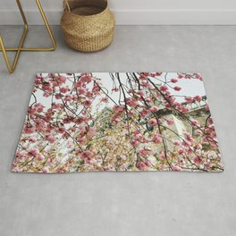 Cherry Blossoms at Notre-Dame Rug