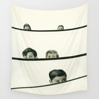 cassia beck Wall Tapestries featuring Hide and Seek by Cassia Beck