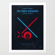 No591 My SW Episode VII minimal movie poster Art Print