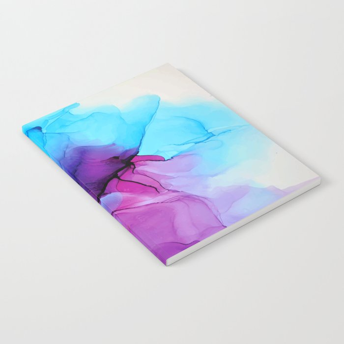 Aqua Pop - Alcohol Ink Painting Notebook