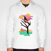 toucan Hoodies featuring Toucan by Vasilisa Wise
