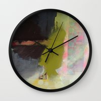 transparent Wall Clocks featuring Transparent Words by Natalie Baca