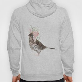 Boho Chic wild bird With Flower Crown Hoody