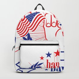 Happy 4th of July Freedom Hand & USA flag Backpack