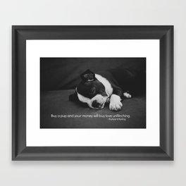 Puppy Love Rudyard Kipling Quote Framed Art Print