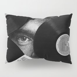 Long-playing Records and Covers in Black and White - Good Memories #decor #society6 #buyart Pillow Sham