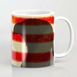 US flag with silhouette Bald Eagle Coffee Mug
