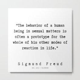 27  |   Sigmund Freud Quotes | 190926 Metal Print