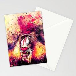 baboon monkey wslsh Stationery Cards