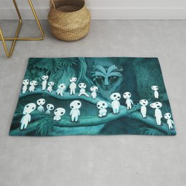 Kodama and the Forest Spirit Rug