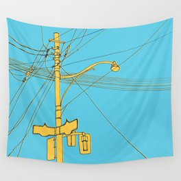 Cables and wires over Queen and Bathurst Wall Tapestry