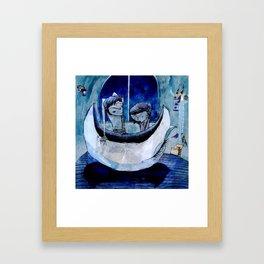 we saved the moon Framed Art Print