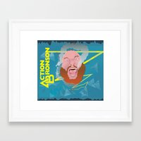 "action bronson Framed Art Prints featuring Action Bronson ""Blue Dream"" by cocobreadconqueso"