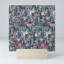 Gemstone Cats RGB Mini Art Print