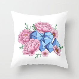 Roll Like A Girl Throw Pillow