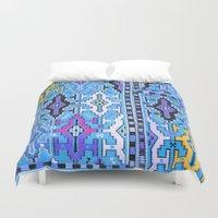 kilim Duvet Covers featuring Aztec Kilim by EllaJo Design