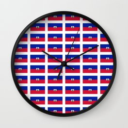 Flag of Haiti-haitan,haitien,port aux princes,cap haitien,carrefour,antilles. Wall Clock