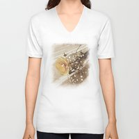 poetry V-neck T-shirts featuring Vintage poetry by Viviana Gonzalez