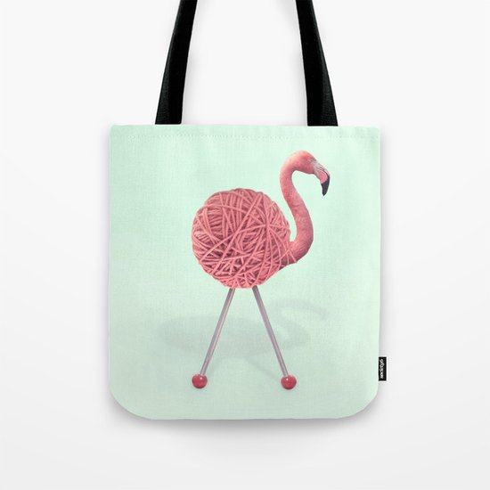 YARN FLAMINGO Tote Bag