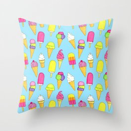 Ice cream pattern (Sweet #6) Throw Pillow