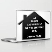 bible verses Laptop & iPad Skins featuring Bible verse by cmphotography