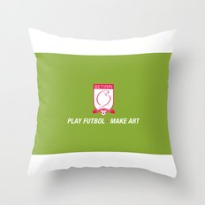 Play Futbol, Make Art Throw Pillow