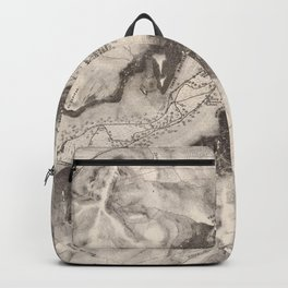 Vintage Map of Yosemite Valley (1870) Backpack