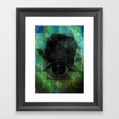 A VERY PRIVATE EYE Framed Art Print