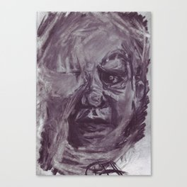 Baby face in charcoal. Canvas Print