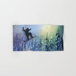 The Snowboarder: Air Hand & Bath Towel
