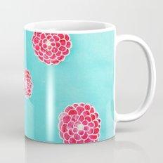 Pink flowers in blue Mug