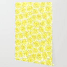 Lemon slices pattern watercolor Wallpaper