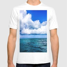Out on the Open Sea MEDIUM Mens Fitted Tee White