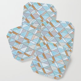 Shifting Pattern Turquoise and Gold Coaster