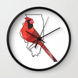 Illinois – Northern Cardinal Wall Clock