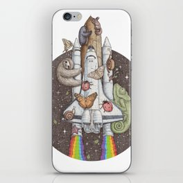 a trip to the moon iPhone Skin