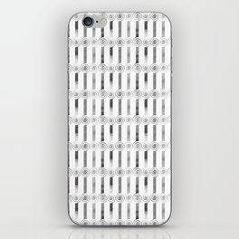 GRAPHIC PATTERN Sparkling helix | silver iPhone Skin