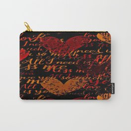 Kiss Me, Miss Me Red Carry-All Pouch
