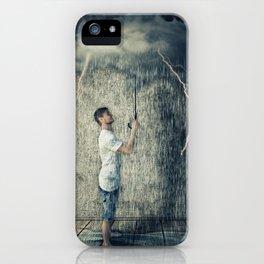 umbrella cloud iPhone Case